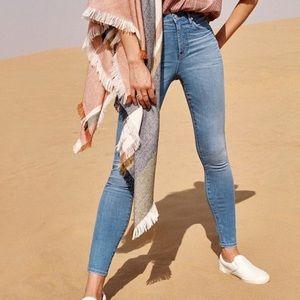 "Madewell 10"" high Rise skinny jeans 25"